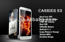 5.7'' Quad Core Smartphone 1.2GHz Andriod Smartphone 5.7 inch IPS Screen 1G RAM 13MP Android 4.1 Dual SIM Mobilephone Cell Phone