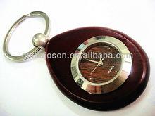 wooden watch key chain, keyring, watch keychain