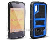 PC+TPU standing hybrid case tyre patten mobile phone case for LG Nexus 4 E960