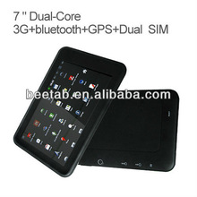 cheap price 7 inch cdma gsm dual sim android wifi,bluetooth, gps, tv,FM Transmitter MT3