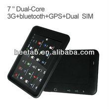 cheap price 7 inch cdma gsm dual sim android wifi,bluetooth, gps, tv,FM Transmitter MT3