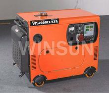 WS8000LTA3 7KW silent diesel generator set