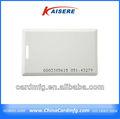 Transparente/blanco cr80 en blanco de la tarjeta de negocios dimensiones
