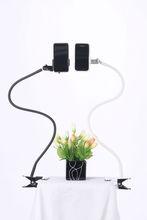 best selling elegant design dual car mount holder for mobile phone using in bed car and desktop