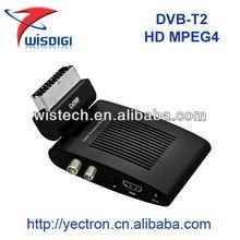 2013 low cost mini dvb-t2 ! full hd mini mpeg4 scart dvb-t2 receiver mini scart dvb-t2 mpeg4 hd receiver