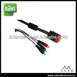 HDB15 VGA to RCA Cable, VGA to 3RCA Cable