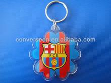 Custom cute national flag acrylic photo frame keychain for promotional