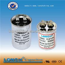 high quality capacitor cbb65 air compressor capacitor 50+5uf 450v
