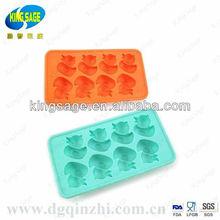 Cute little ducks creative frozen ice mold / ice lattice box / silicone ice tray maker