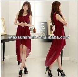 Wholesale Ladies Red Dress,New Fashion Summer Dress