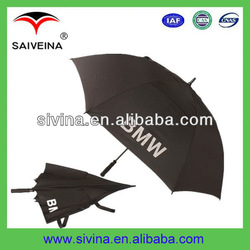 2013 high quaity promotional carbon golf umbrella as gift with BMW brand