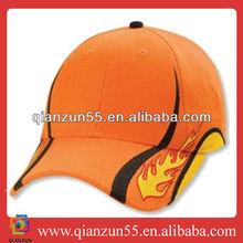wholesale alibaba salmon orange baseball caps sports flames baseball hat for custom design