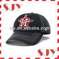 caliente de encargo de color rosa de color turquesa de la juventud equipado gorras de béisbol