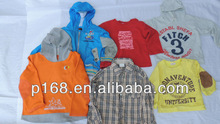 Spring Big Mixed Children Wear / Second hand cartoon kids baby clothes / Used Cartoon T-shirt