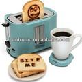 Logo tostadora / 2 rebanada cool touch tostadora CE / GS / EMC / ROHS / LFGB / SASO aprobación