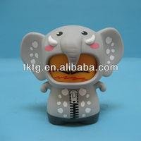 9CM Plastic Elephant doll