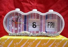 manual flip calendar alarm clock NC100