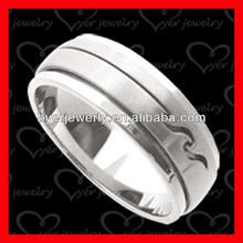 matt finish titanium fashion rings jewelry good quality