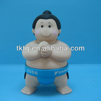 9CM Plastic Sumo doll with standing