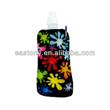 Fashion Foldable Collapsible Water Bottle Assorted Colors