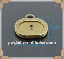 antique decorative pad lock for handbag