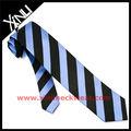 azul marino raya jacquard tejido corbatas de seda