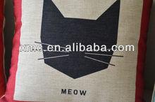 Novel creative cat printing throw pillow