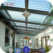 glossy decoration corrugated plastic roof panels
