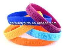 Custom love word bracelets silicone