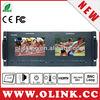 Dual 7'' Rackmount LCD Video Studio Monitor with 3G/HD-SDI, HDMI, AV inputs
