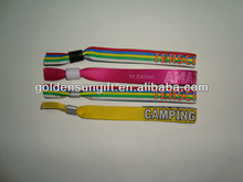 Hot selling Fabric Texitle Glow In The Dark Wristbands For Events