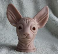Wholesale Limited Edition cat kits-Hot Sale 16'' Reborn VINYL sphynx cat,Reborn doll kits