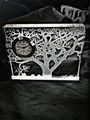 noble del árbol de cristalislámica reloj de regalo de boda con nombre grabado