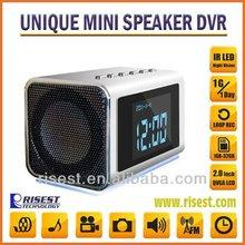 Hidden Infrared Surveillance Camera Video Recorder + Mini Clcok + Mini Speaker + Raidio + MP4 Player