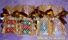 Bright sequin organza fabric for decoration organza bag