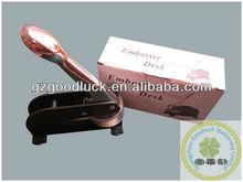 Custom hand vice desk embossing seal presses/Custom handle grips desk embossing seal presses