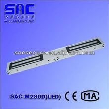 hot selling double door aluminum material magnetic card key lock SAC-M280D(LED)