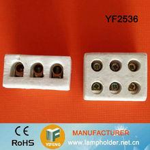 High Frequency Ceramic 3 Way Electric Terminal Blocks