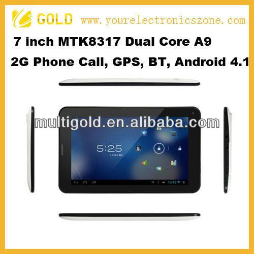 منتج جديد 2013 mtk8317 2g 7 بوصة بلوتوث gps الروبوت الهواتف العلامة التجارية لا