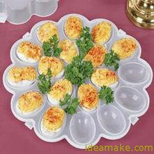 Devilled huevo de contenedores como se ve en TV