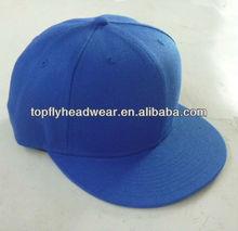 Blank royal blue acrylic snapback cap simple headwear and caps