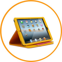 Fashion Jeans Style Stand Flip Leather Wallet Smart Skin Sticker for iPad Mini from Dailyetech