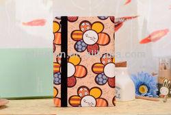 Deluxe Folio Leather Flip case for ipad mini Smart Cover Folio PU Leather Cases Covers for iPad Stylish Sun Flower Pattern 1