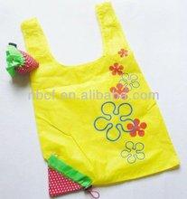strawberry nylon foldable shopping Bags
