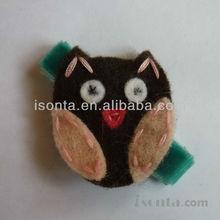 Handmade wool felt animals with magnet Cat felt crafts Felt animal