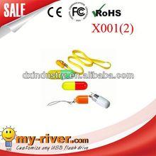 Popular Customized Design Promotional capsule pill usb 2.0