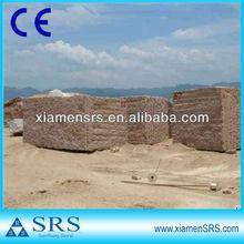 China rough maple red granite block