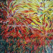 glass mosaic art pattern, flower picture for room wall art murals
