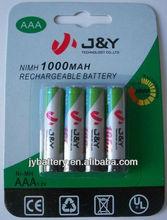 ready to use battery aaa 1000mAh 1.2v