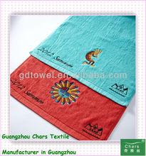 Solid color plain weaving custom logo cotton bath towel 600GSM cotton thick high quality emboridery logo European gift towel